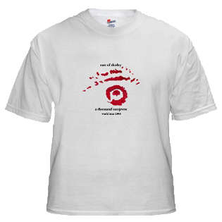 EoS White T-Shirt with Red & Black Insignia